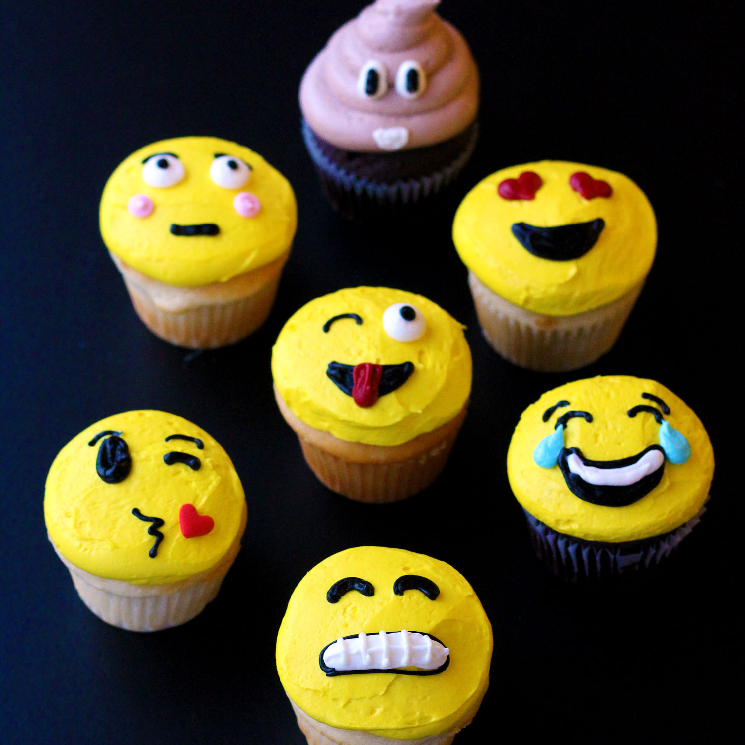 emoji cupcakes by french bakery in northern new jersey cafe pierrot
