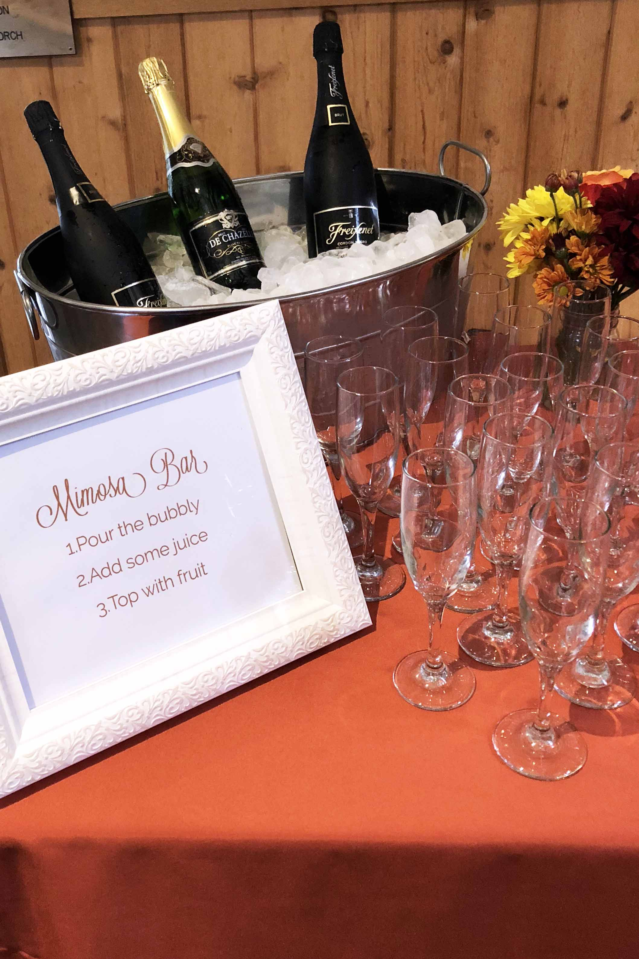 bridal shower at schooley's mountain lodge catered by pierrot catering in nj