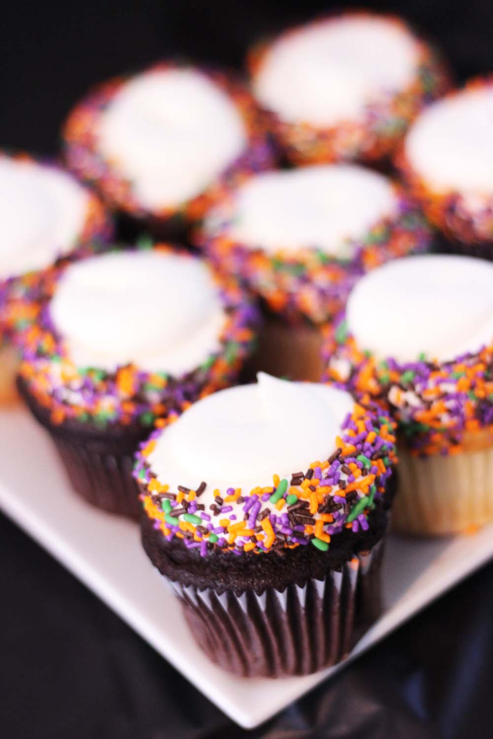 Halloween sprinkles for cupcakes at cafe pierrot in sparta nj