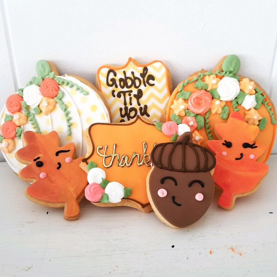 cookie collection for autumn and thanksgiving from cafe pierrot in northern new jersey