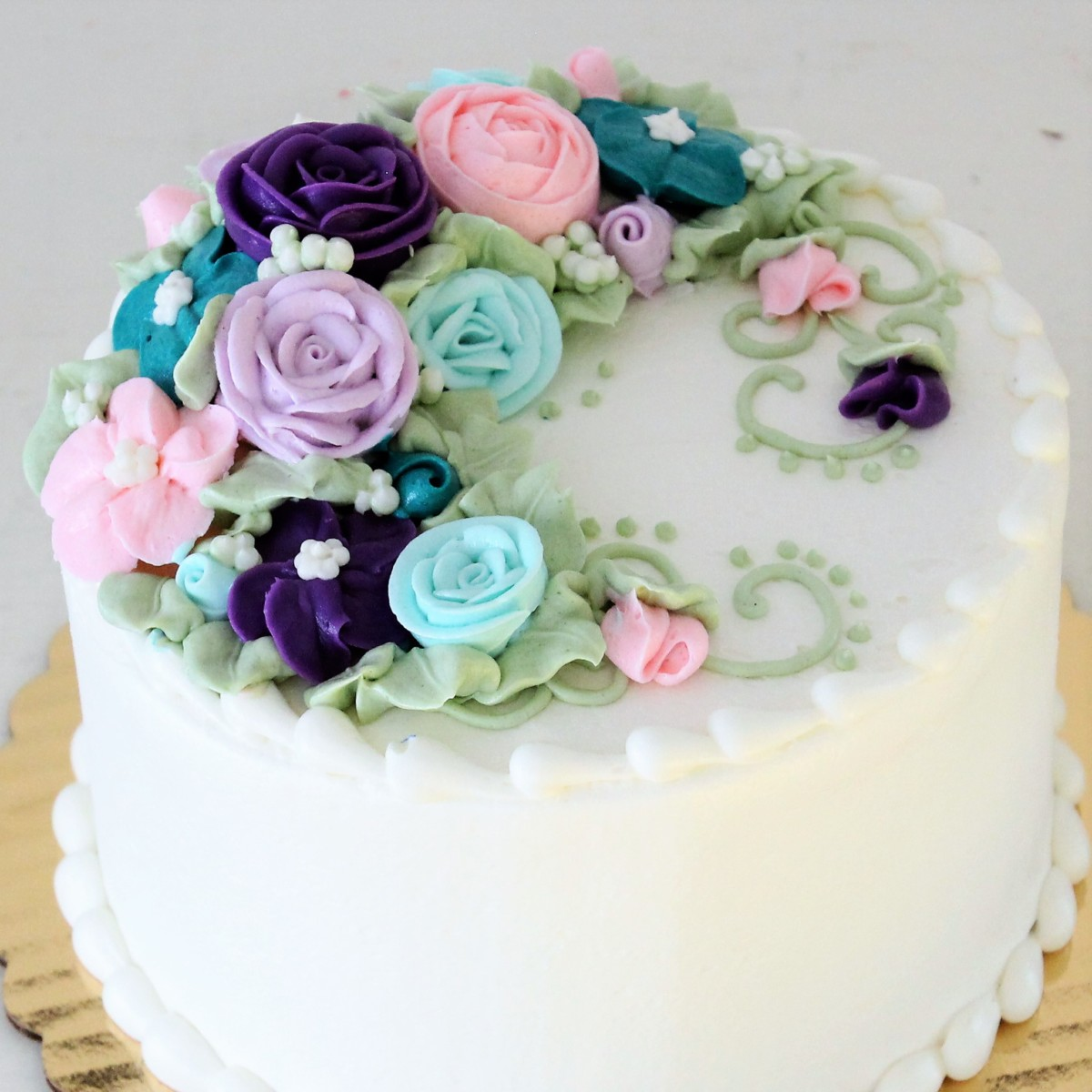 top tier of a wedding cake from cafe pierrot in sussex county nj