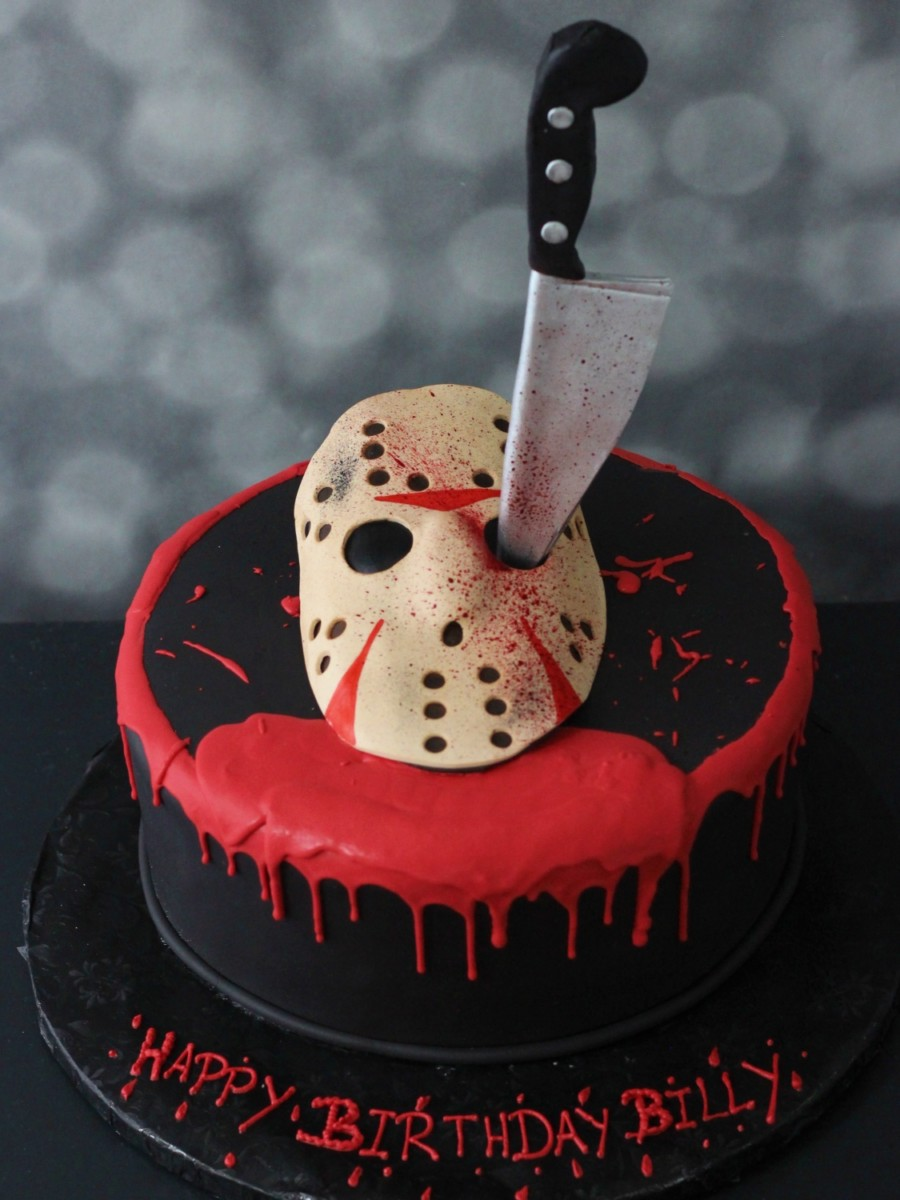 jason friday the 13th cake for halloween or birthday